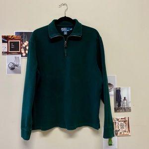 Polo By Ralph Lauren Mens Quarter Zip Green Size M